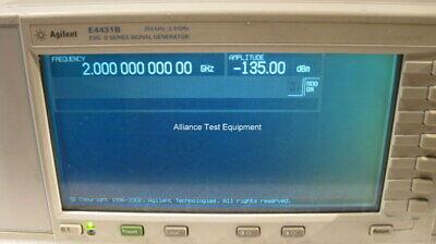 Agilent Hp E4431b Digital Rf Signal Generator Opt 1emh60un8un9 6 Mo War