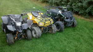 I have 3 quads for sale 125cc