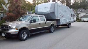 **2014 OPEN RANGE ROAMER 337RLS 5TH WHEEL- truck for sale also