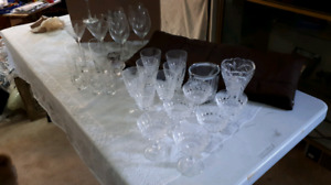 Crystal and Wine glasses
