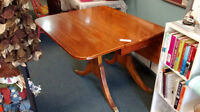 Antique Solid Oak Dining table with fold down sides