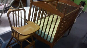 Oak High Chair at The Meetinghouse! Windsor Region Ontario image 2