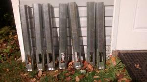 poteau de montage pour rampes en PVC