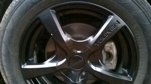 """Touken 17"""" Blk Mags + All Season Tires 22.5 / 60 R17  99H M + S"""