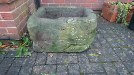 Antique Hand Carved Stone Trough