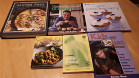 Books-Gluten free recipe and coeliac disease information books