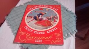 Vintage Toronto Skating Club Programme from 1939