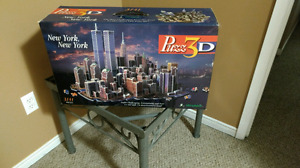 3d puzzle of Twin Towers