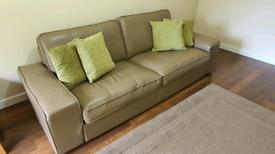 Ikea Kivik Real Leather Sofa