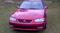 2001 Toyota Corolla Sport for parts
