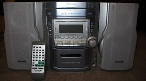 Panasonic CD (5) Player and Cassette with Speakers