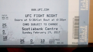 UFC Ticket For tonight