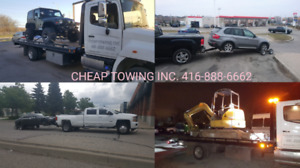 CHEAP TOWING MISSISSAUGA FLAT BED TOW TRUCK ROADSIDE ASSISTANCE