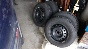 "Goodyear - 14"" Ultragrip Winter Tires and Rims"