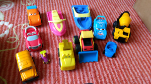 Baby Toys, Puzzles, Mr Potato Head, lot of cars.