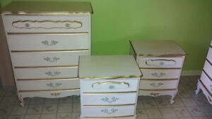 Child's Sears French Provincial Bedroom Set Dressers Bureau