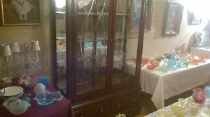 Large China Cabinet 7ft x 4ft x18 inches deep