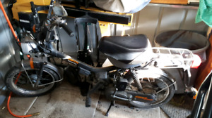 Selling my running Honda Express 50cc 2 speed moped.
