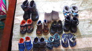 Boys boots shoes sneakers and slippers