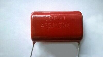 5pcs Cbb21 Cbb22 475j 400vdc Metallized Polyester Film Capacitor 4.7uf P31mm