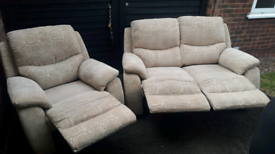 FREE DELIVERY!! RECLINING 2+1 SEATER SOFAS