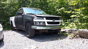 Chevy colorado 5.3 v8 LS swap with c-notched frame