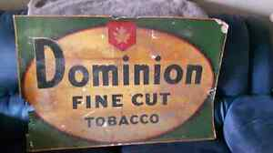 1940s tobacco sign