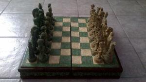 Europeans vs. Indians Chess Set Inca Mayan Spanish Conquistadors
