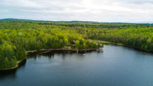 Private Lakefront Lot Click for Video 750' Waterfront 1252Wilbur