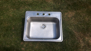Large stainless sink
