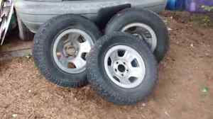 Tires, truck topper only,and vehicle ramps for Sale.