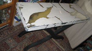 Glass Mirror Settee Table/Occasional Table/Sofa Table