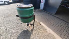 Quad atv electric broadcaster for slug pellets grass seed tractor
