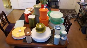 Large lot of vintage tupperware