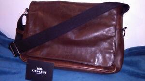 Authentic Coach leather courier bag