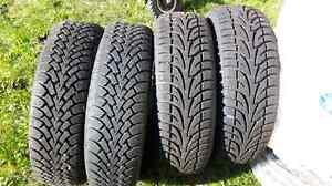 Winter tires 225/65/17 Cambridge Kitchener Area image 1