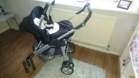Baby pram with carrier