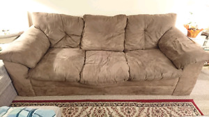Sofa (broken from middle) and loveseat for sale