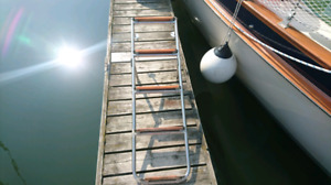 Stainless boarding ladder