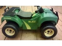 Toddler ride-on John Deere quad bike with music and engine sounds