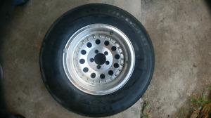 225 75 15 aluminium rims with tires