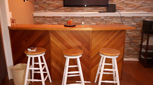 Wet bar for sale with stools