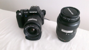 Olympus evolt e 500 with two lenses