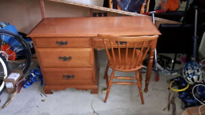 Solid Wood Desk and Chair Canadian Made