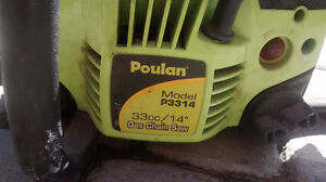 Poulan P3314 Gas chainsaw -Only $120 OBO -Call/text 647-772-9325