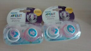 Philips Avent Pacifier/ Soother 0 to 6 Month 2 Pack - Girls