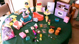 Barbie doll furniture and accessories