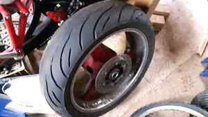 1999-2002 Yamaha YZF R6 REAR TIRE RIM AND ROTOR