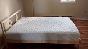 Full size bed and mattress