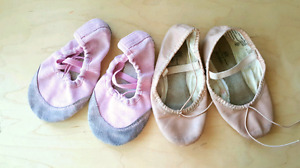 Ballet shoes, size 8 and 9 child.